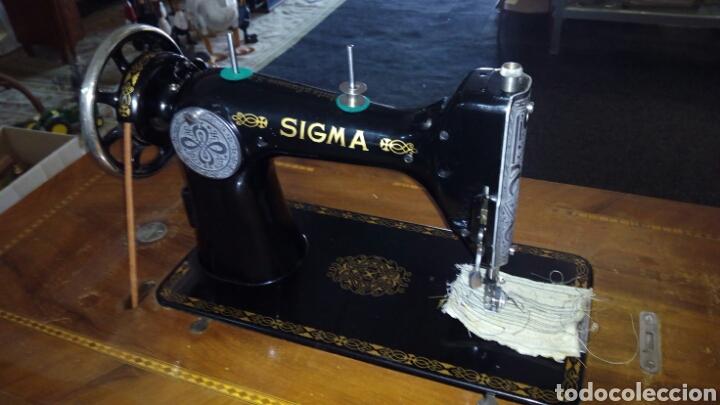 Antigüedades: Antigua Maquina de Coser SIGMA, en muy buen estado y Funcionando - Foto 15 - 171735019