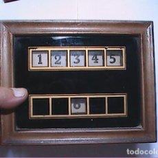 Antigüedades: CENTRALITA ELECTRICA AÑOS 20 RECEPCIÓN HOSTAL. AVISADOR DE 6 HABITACIONES.BARCELONA.. Lote 171741734
