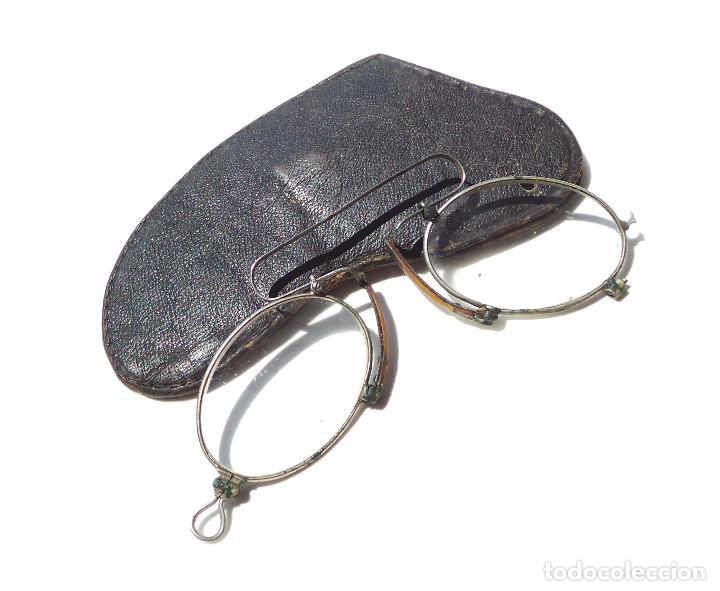 ANTIGUOS BINOCULOS, GAFAS EN ESTUCHE. FUNDA ORIGINAL (Antigüedades - Técnicas - Instrumentos Ópticos - Gafas Antiguas)