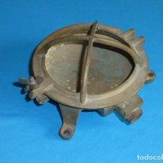 Antigüedades: ANTIGUO APLIQUE DE BARCO,LÁMPARA DE TECHO O PARED, EN BRONCE.. Lote 172033682