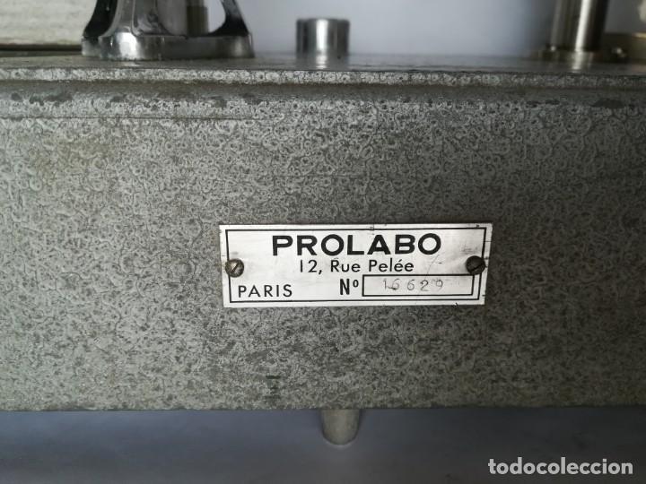 Antigüedades: BALANZA - GRANATARIO DE LABORATORIO. ELECTRICA PROLABO - Foto 15 - 172080645