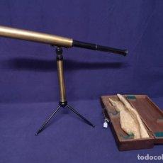 Antigüedades: TELESCOPIO LACADO Y DORADO 1900. Lote 172083965