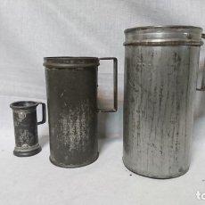Antigüedades: LOTE DE ANTIGUAS JARRAS DE MEDIDA. Lote 172162583