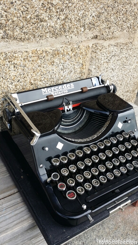 Antigüedades: Máquina de escribir Mercedes 1934 - Foto 9 - 172352260