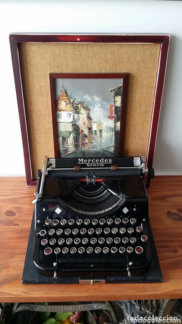 Antigüedades: Máquina de escribir Mercedes 1934 - Foto 10 - 172352260