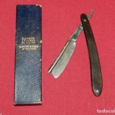 Antigüedades: NAVAJAS DE AFEITAR - JAQUES LECOULTRE CON FUNDA, SEÑALES DE USO. Lote 172463058