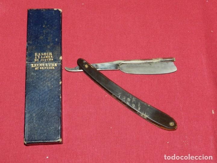 Antigüedades: Navajas de Afeitar - Jaques Lecoultre con Funda, Señales de Uso - Foto 3 - 172463058