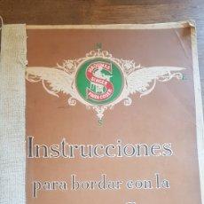 Antigüedades: LIBRO ANTIGUO INSTRUCCIONES PARA BORDAR COSER CON MÁQUINA SINGER. Lote 172471280