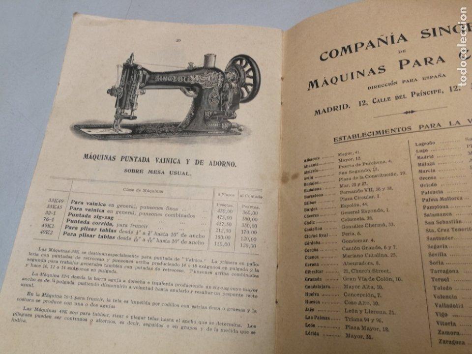 Antigüedades: CATALOGO MAQUINAS DE COSER SINGER Nº 28 M ENERO DE 1912 - Foto 4 - 172539292