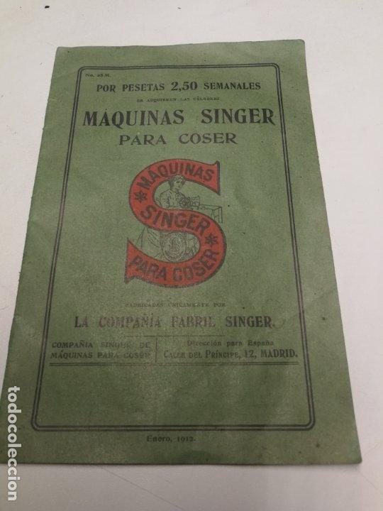 CATALOGO MAQUINAS DE COSER SINGER Nº 28 M ENERO DE 1912 (Antigüedades - Técnicas - Máquinas de Coser Antiguas - Singer)
