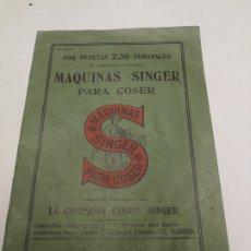 Antigüedades: CATALOGO MAQUINAS DE COSER SINGER Nº 28 M ENERO DE 1912. Lote 172539292