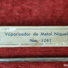 Antigüedades: VAPORIZADOR DE METAL NIQUELADO. MODELO 1207. CAJA ORIGINAL. CIRCA 1930. . Lote 172609043