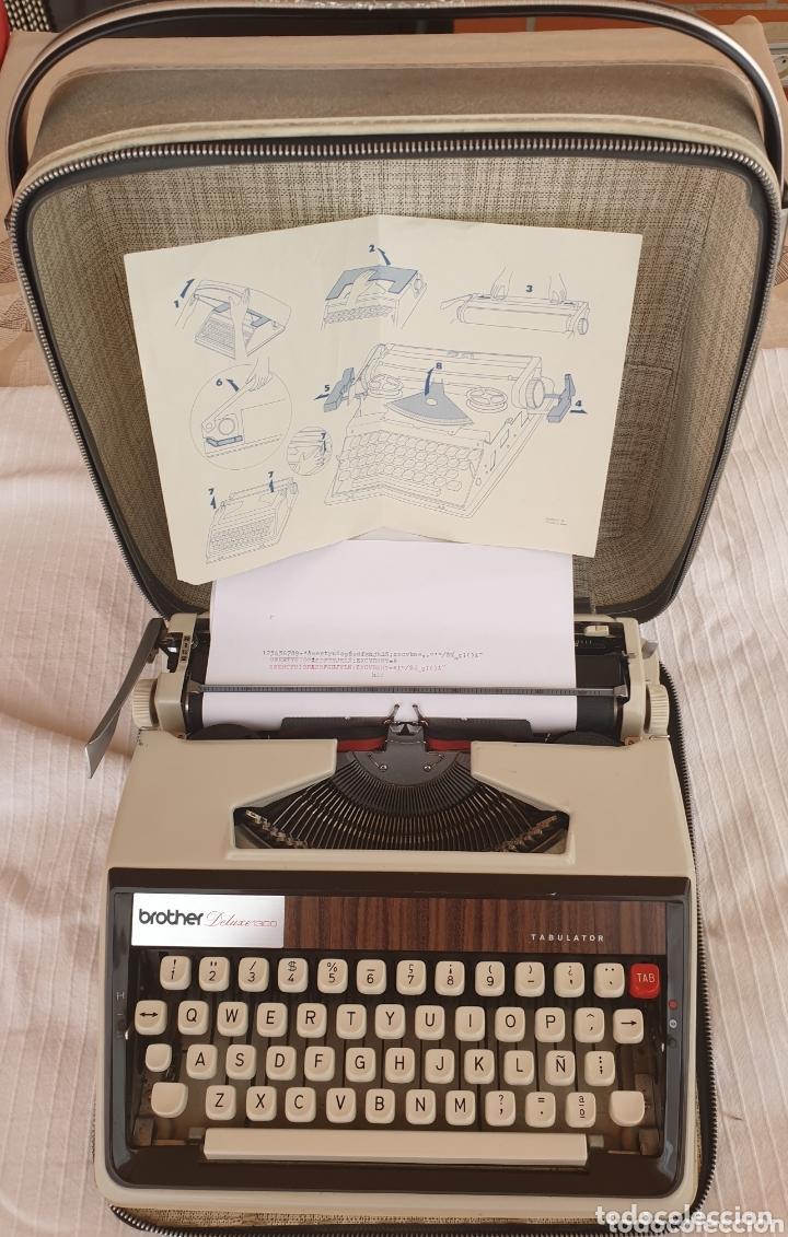 MÁQUINA DE ESCRIBIR BROTHER DELUXE 1300 (Antigüedades - Técnicas - Máquinas de Escribir Antiguas - Otras)