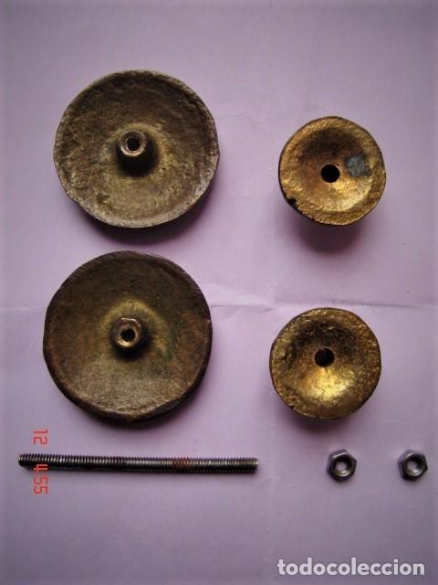 Antigüedades: TIRADOR DOBLE DE BRONCE PARA CAJÓN O SIMILAR - Foto 5 - 172714918