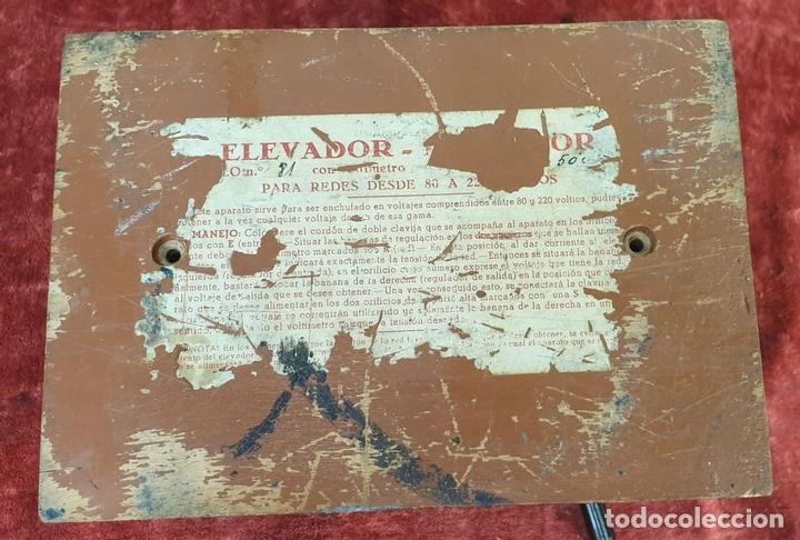 Antigüedades: ELEVADOR-REGULADOR DE VOLTAJE. CHCER. SALIDA DE 80 A 220 V. SIGLO XX. - Foto 9 - 172758582