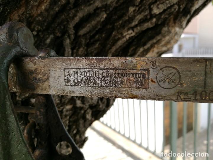 Antigüedades: BASCULA BALANZA ROMANA SIGLO XIX PARA PESAR TONELES-BARRICAS-BOTAS DE VINO VITICULTURA--REF-DC - Foto 4 - 172783698