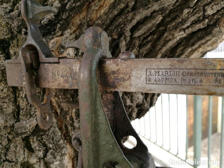Antigüedades: BASCULA BALANZA ROMANA SIGLO XIX PARA PESAR TONELES-BARRICAS-BOTAS DE VINO VITICULTURA--REF-DC - Foto 5 - 172783698