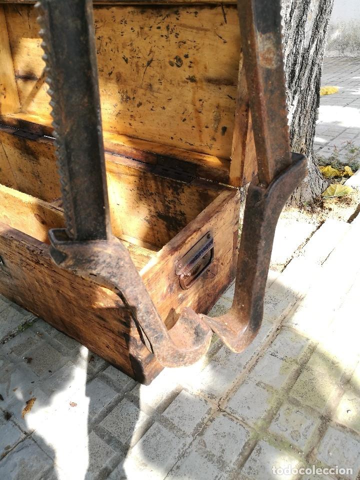 Antigüedades: BASCULA BALANZA ROMANA SIGLO XIX PARA PESAR TONELES-BARRICAS-BOTAS DE VINO VITICULTURA--REF-DC - Foto 14 - 172783698