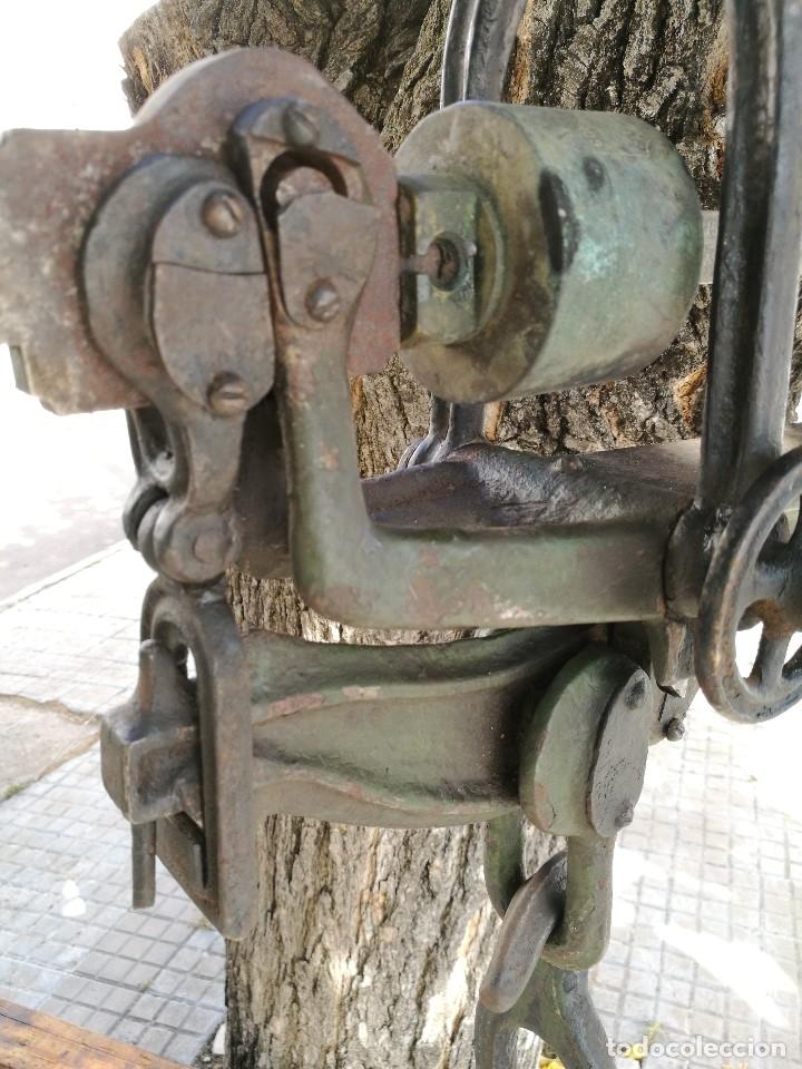 Antigüedades: BASCULA BALANZA ROMANA SIGLO XIX PARA PESAR TONELES-BARRICAS-BOTAS DE VINO VITICULTURA--REF-DC - Foto 19 - 172783698
