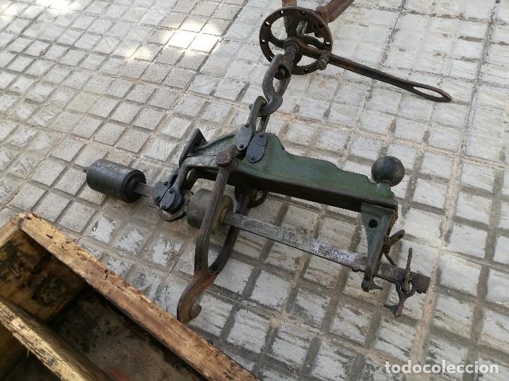 Antigüedades: BASCULA BALANZA ROMANA SIGLO XIX PARA PESAR TONELES-BARRICAS-BOTAS DE VINO VITICULTURA--REF-DC - Foto 30 - 172783698
