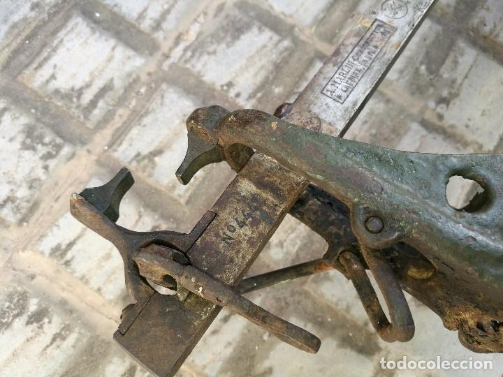 Antigüedades: BASCULA BALANZA ROMANA SIGLO XIX PARA PESAR TONELES-BARRICAS-BOTAS DE VINO VITICULTURA--REF-DC - Foto 32 - 172783698
