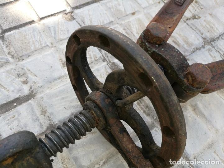 Antigüedades: BASCULA BALANZA ROMANA SIGLO XIX PARA PESAR TONELES-BARRICAS-BOTAS DE VINO VITICULTURA--REF-DC - Foto 41 - 172783698