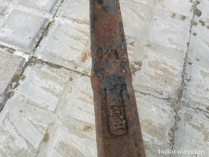 Antigüedades: BASCULA BALANZA ROMANA SIGLO XIX PARA PESAR TONELES-BARRICAS-BOTAS DE VINO VITICULTURA--REF-DC - Foto 42 - 172783698