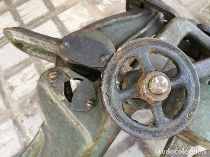 Antigüedades: BASCULA BALANZA ROMANA SIGLO XIX PARA PESAR TONELES-BARRICAS-BOTAS DE VINO VITICULTURA--REF-DC - Foto 57 - 172783698