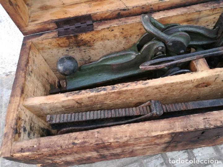Antigüedades: BASCULA BALANZA ROMANA SIGLO XIX PARA PESAR TONELES-BARRICAS-BOTAS DE VINO VITICULTURA--REF-DC - Foto 70 - 172783698