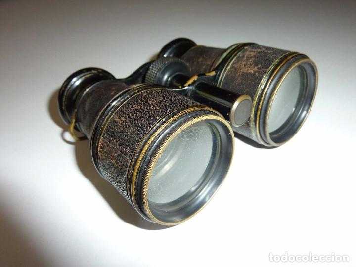 BINOCULAR PRISMATICO DE BOLSIO IMPERTINENTE TEATRO OPERA ANTIGUOS FINALES DEL SIGLO XIX HECHO LOTON (Antigüedades - Técnicas - Instrumentos Ópticos - Binoculares Antiguos)