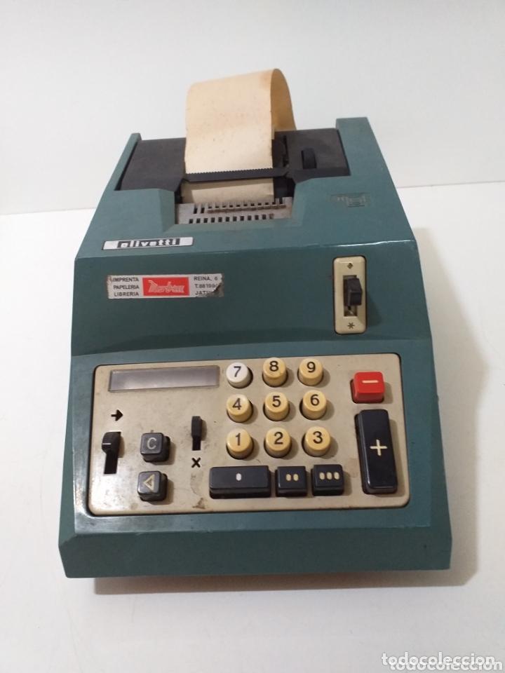 ANTIGUA CALCULADORA HISPANO OLIVETTI, DE COMERCIO, AÑOS 60, ELECTRICA. (Antigüedades - Técnicas - Aparatos de Cálculo - Cajas Registradoras Antiguas)