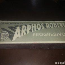 Antigüedades: CAJA ANTIGUA VACIA DE AMPOLLAS ARPHOS ROBERT MEDICAMENTO MEDICINA. Lote 172909379