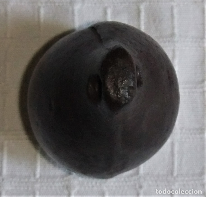 Antigüedades: ANTIGUA PESA DE HIERRO CON FORMA DE PERA - Foto 6 - 172931288