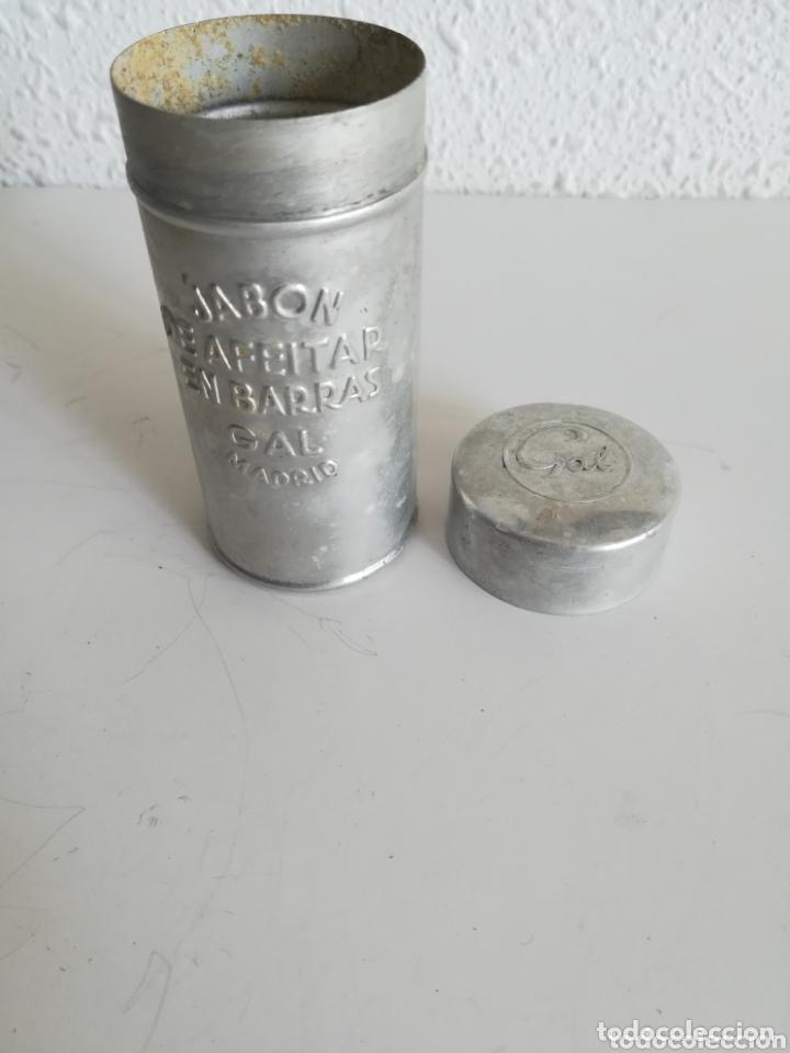 Antigüedades: Bote Jabón de Afeitar en Barras marca GAL Madrid - Barbería Vintage - Foto 11 - 172943968