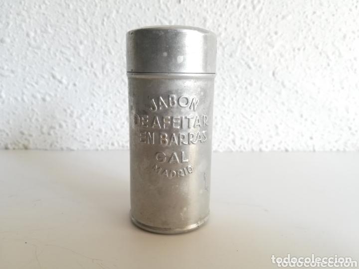 BOTE JABÓN DE AFEITAR EN BARRAS MARCA GAL MADRID - BARBERÍA VINTAGE (Antigüedades - Técnicas - Barbería - Varios Barbería Antiguas)
