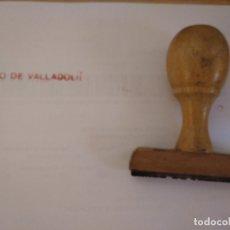 Antigüedades: TAMPON SELLO -CON EL ENUNCIADO : BANCO DE VALLADOLID. Lote 172958763