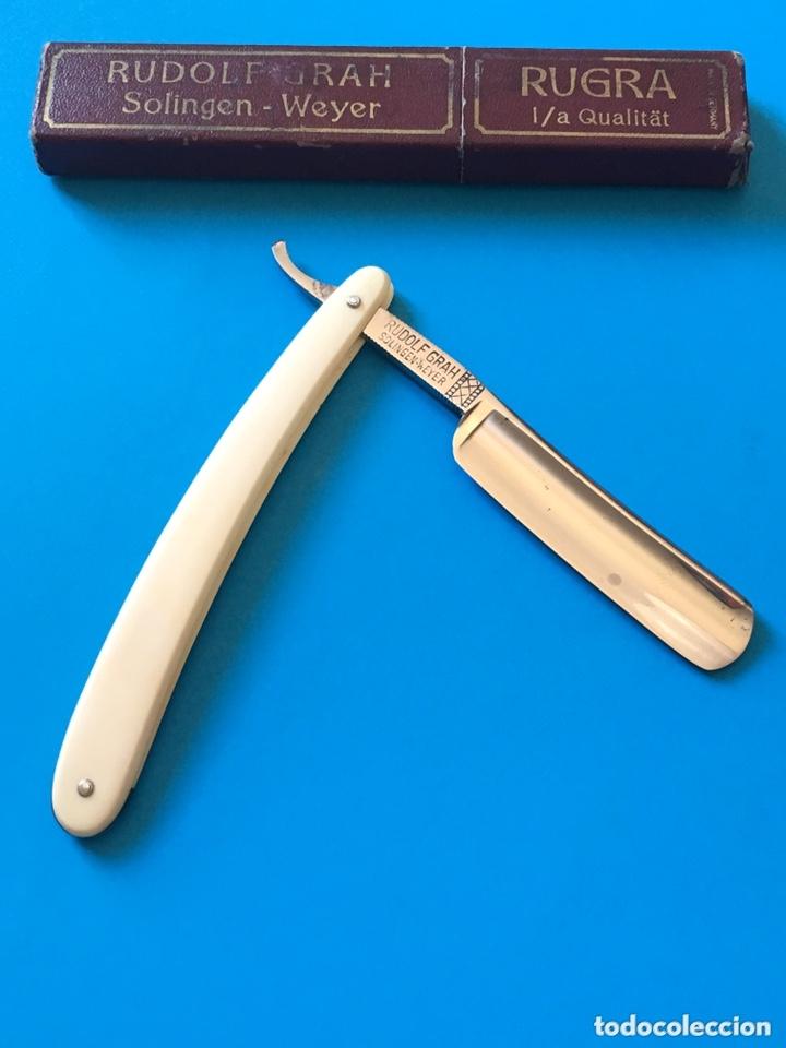 Antigüedades: Navaja antigua de afeitar o barbero - RUDOLF GRAH RUGRA - Solingen Weyer - Foto 5 - 173016295
