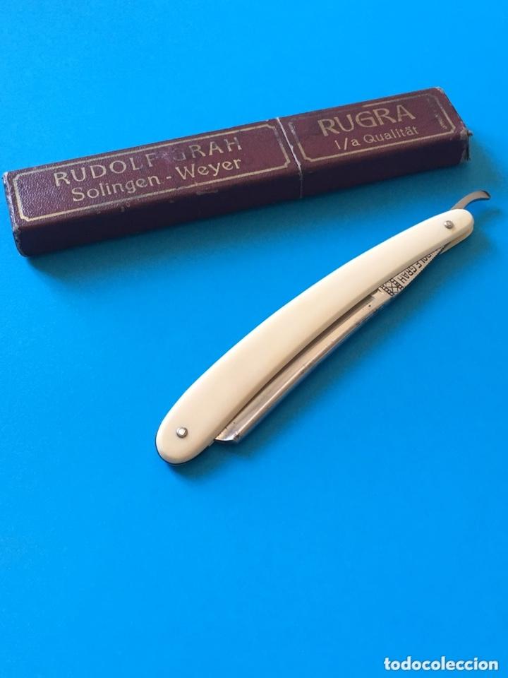 Antigüedades: Navaja antigua de afeitar o barbero - RUDOLF GRAH RUGRA - Solingen Weyer - Foto 6 - 173016295