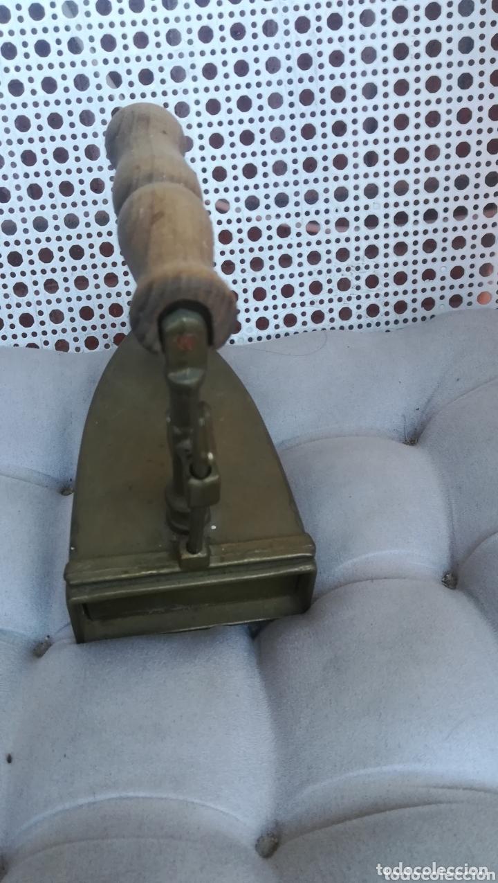 Antigüedades: Antigua plancha de bronce - Foto 3 - 173063760