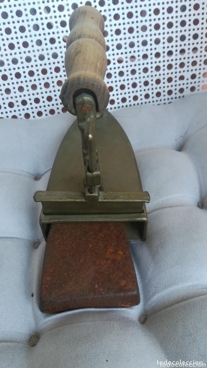 Antigüedades: Antigua plancha de bronce - Foto 4 - 173063760
