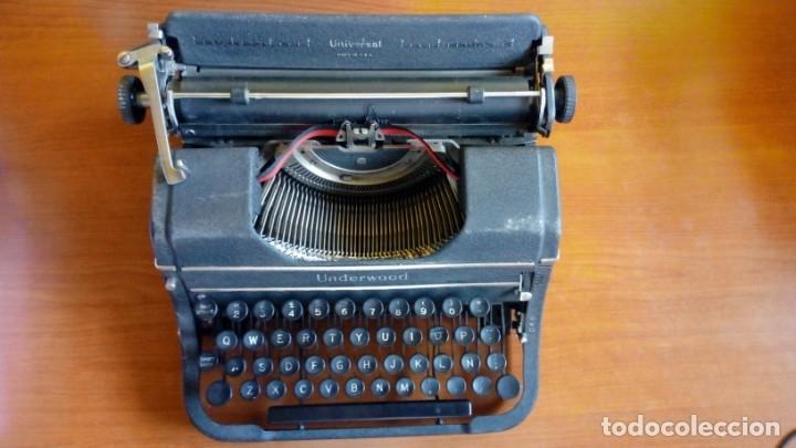 MÁQUINA DE ESCRIBIR UNDERWOOD UNIVERSAL MADE IN. U.S.A (Antigüedades - Técnicas - Máquinas de Escribir Antiguas - Underwood)