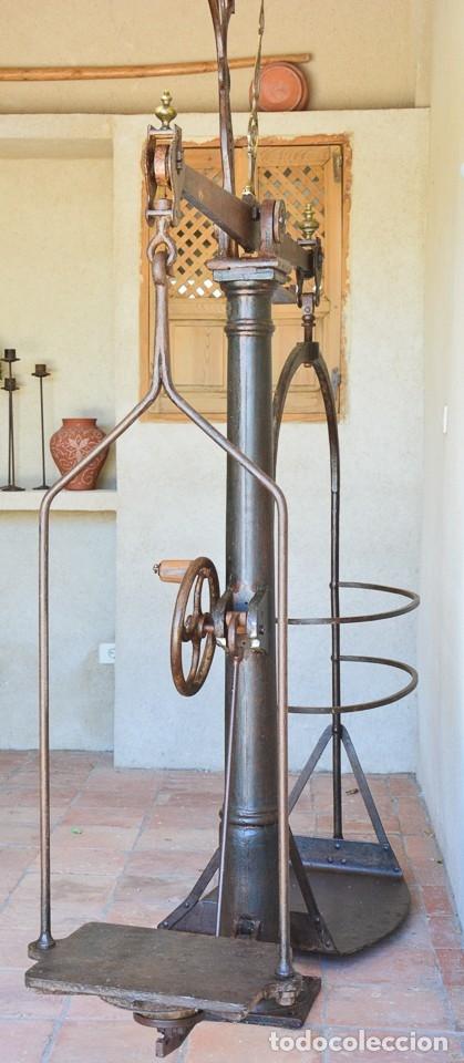 Antigüedades: Gigante báscula industrial Arisó en hierro y bronce - Hijos de Arisó - Barcelona, 1918, balanza - Foto 16 - 173414284