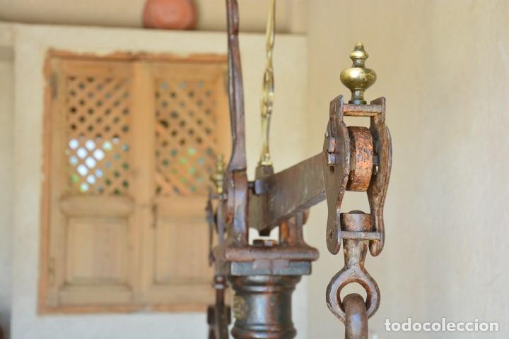 Antigüedades: Gigante báscula industrial Arisó en hierro y bronce - Hijos de Arisó - Barcelona, 1918, balanza - Foto 6 - 173414284