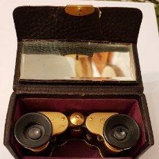 Antigüedades: BINOCULARES PRISMATICOS CARL ZEISS JENA TELEATER 3 X 13,5 CHAPADO ORO,VER DETALLES Y FOTOS. Lote 173480937