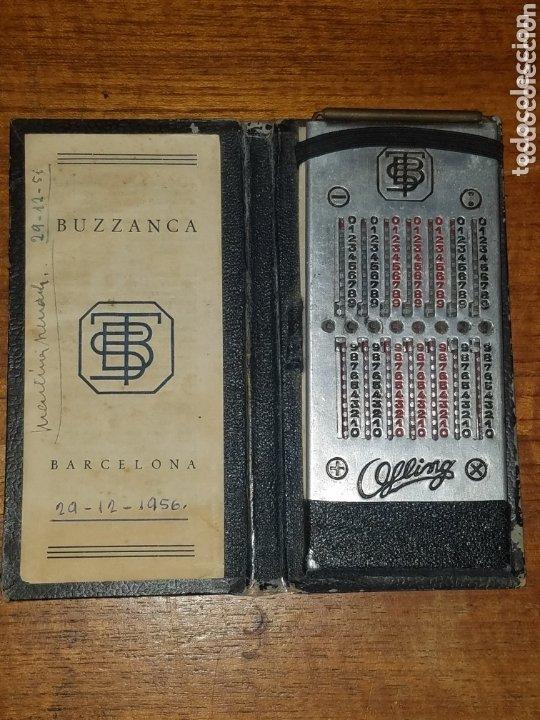 MUY ANTIGUA CALCULADORA BUZZANCA DE LOS AÑOS 20 FABRICADA EN BARCELONA. (Antigüedades - Técnicas - Aparatos de Cálculo - Calculadoras Antiguas)