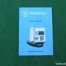 Teléfonos: MANUAL TELÉFONO TEIDE INTEGRADO DE TELEFÓNICA. Lote 173796839