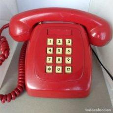 Teléfonos: TELEFONO HERALDO CITESA TECLAS ADAPTADO. ROJO ORIGINAL VINTAGE FUNCIONANDO AÑOS 70. Lote 173839934