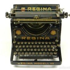 Antigüedades: MAQUINA DE ESCRIBIR REGINA MODEL VII AÑO 1923 TYPEWRITER SCHREIBMACHINE. Lote 173848638