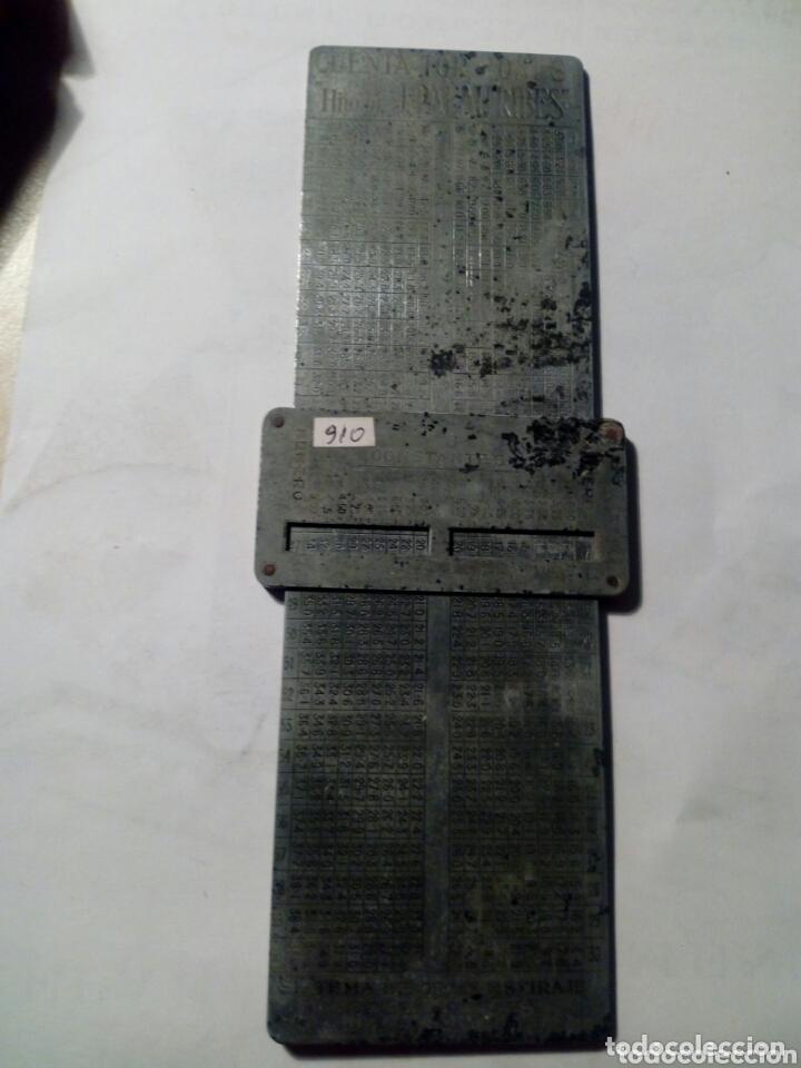 Antigüedades: Especie de calculadora CUENTA TORSIONES de hijos de J. PALAU RIBES . - Foto 2 - 173854549