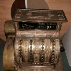 Antigüedades: NATIONAL MÁQUINA REGISTRADORA EN USO. Lote 173873513